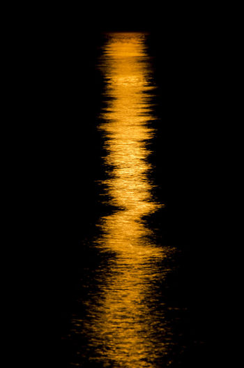 Abstract Blurred Motion Gold Colored Luna E Mare Moonlight Motion Night No People Outdoors Reflection Riflesso Riflesso Lunare Water Yellow Welcome To Black Paint The Town Yellow