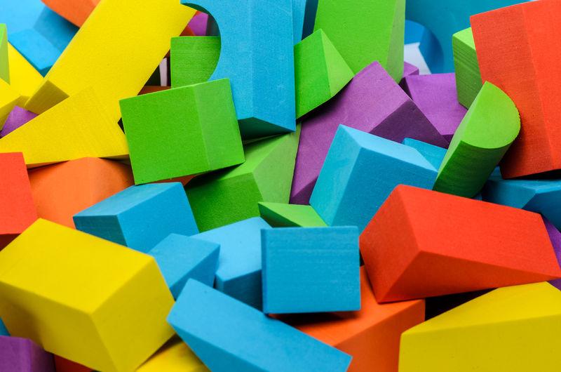 Full frame shot of multi colored toys