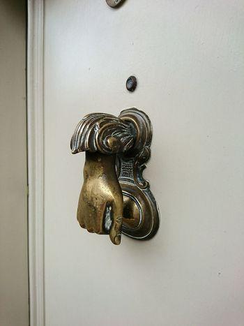 Metal Door Doorknob Day Close-up