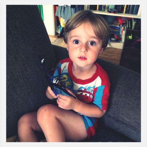 """I'm calling him Laudi the Robot."" Transformers Babybro"