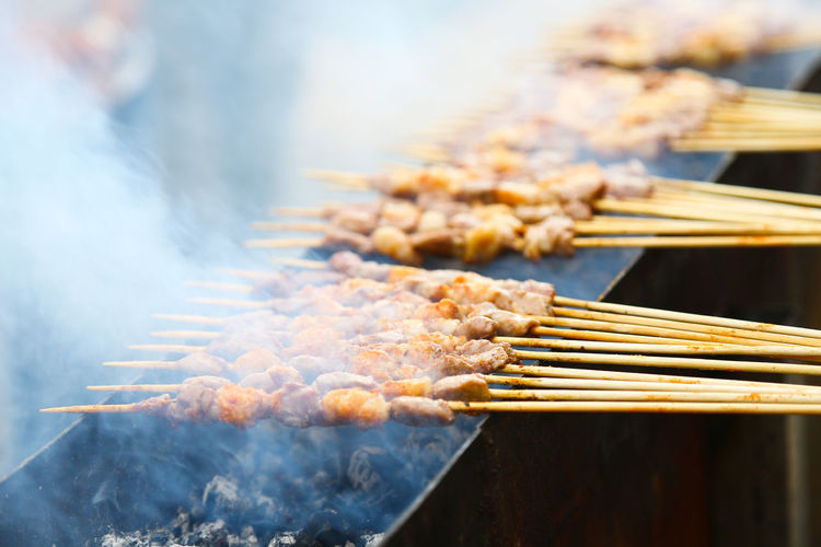 Food And Drink Food Smoke - Physical Structure Selective Focus Freshness Barbecue Preparation  Heat - Temperature Close-up Day Meat Burning Barbecue Grill Preparing Food Snack No People