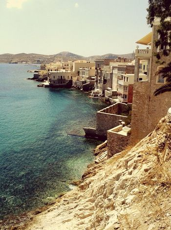 Traveling Looking For New Destinations Greece Cyclades Syros Hermoupolis Asteria Beach Crystal Water Wonderful Views  Greek Islands
