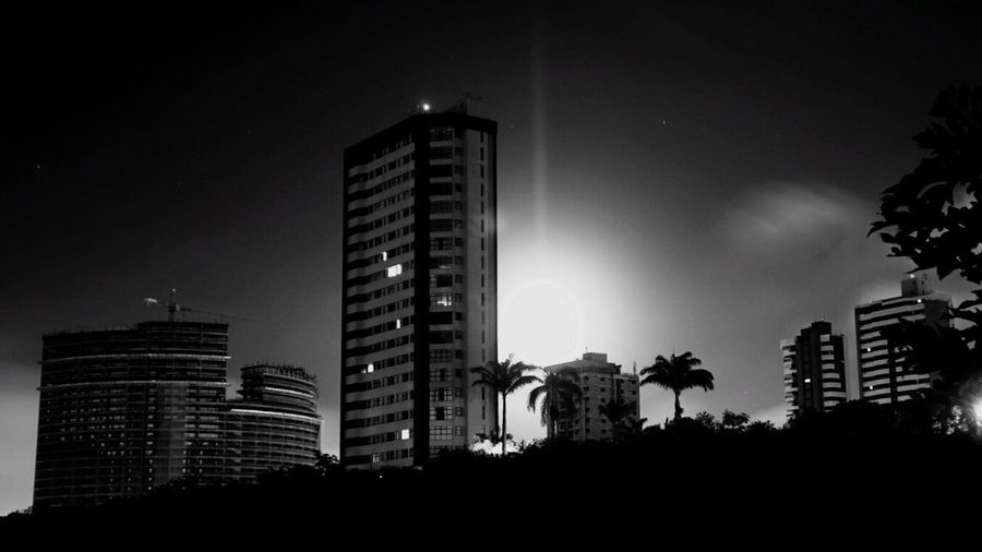 B&W Night B&w Nightphotography Paraíba Night Lights Night Photography Night View Campina Grande Cities At Night The Architect - 2016 EyeEm Awards
