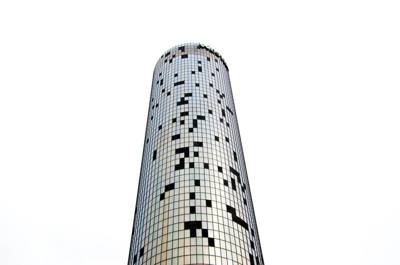 Low angle view of tower against clear sky