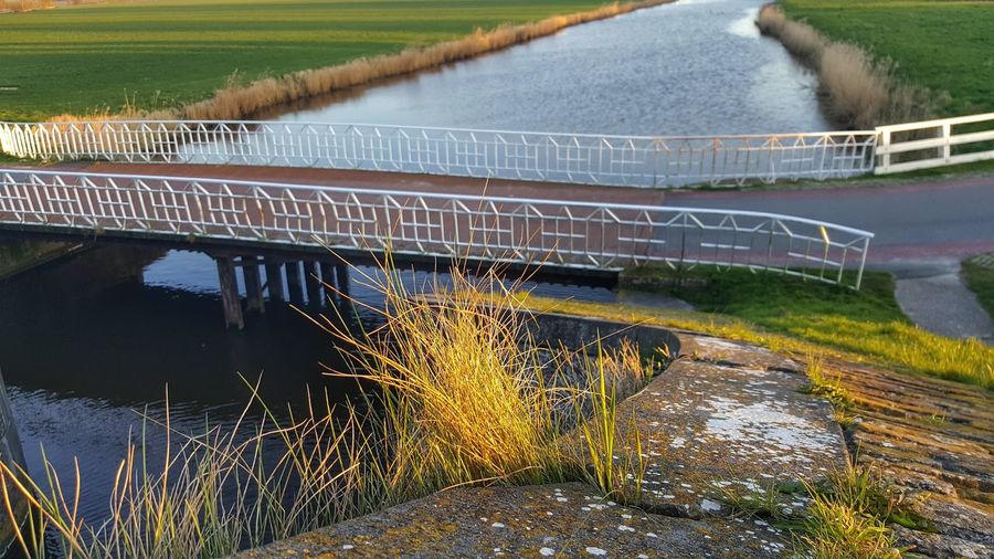 Agriculture Water Outdoors No People Mobile Photography Personal Perspective From My Point Of View Groninger Hoogeland Sunlight Boerenland Route Architecture Followme