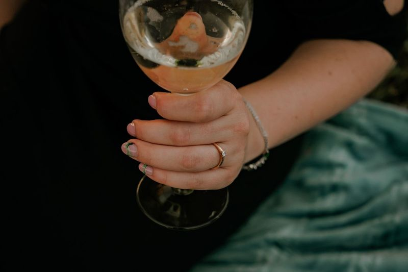 Close-up of woman holding drink