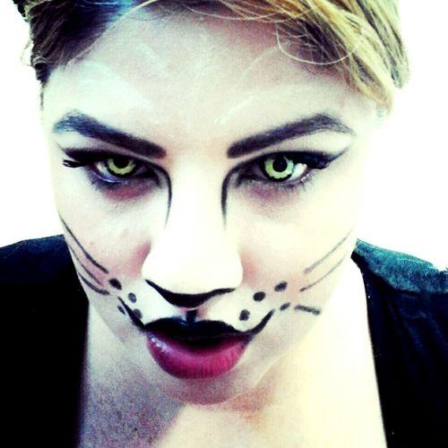 Halloween Cat Eyes Catmakeup Meow