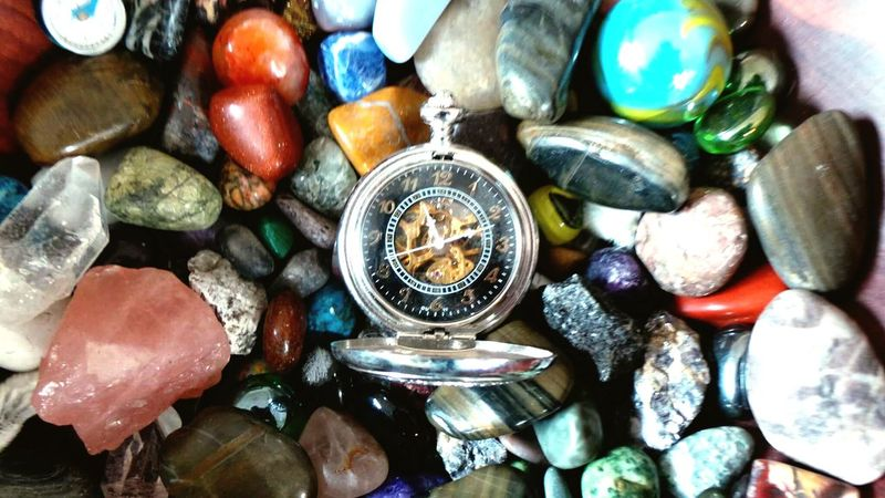 Rock Collection' Natural Color Colorful Watch Stones Time Pocket Watch Rocks Close-up Time