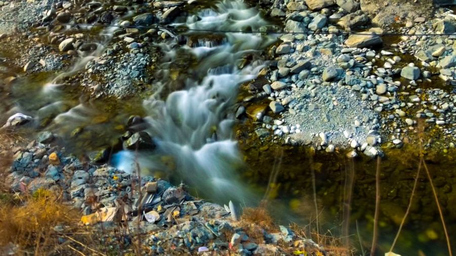 Water Rock - Object Nature River No People Long Exposure Motion Beauty In Nature Outdoors Day Scenics