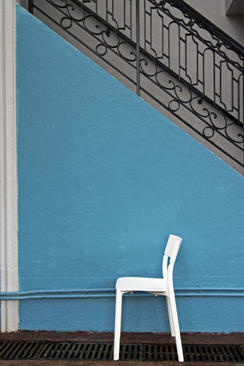 Architecture Chair EyeEm EyeEm Best Shots EyeEm Gallery EyeEmBestPics Hong Kong HongKong Taking Photos Architecture Blue Building Exterior Built Structure Eyeemphotography Eyeyem Travel Collection No People Outdoors Sai Kung Staircase Steps And Staircases Tranquil Scene