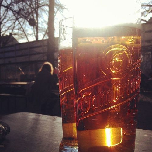 Hello sunny Sunday off, I missed you! Berlin Sunny Goodbyewinter Biergarten