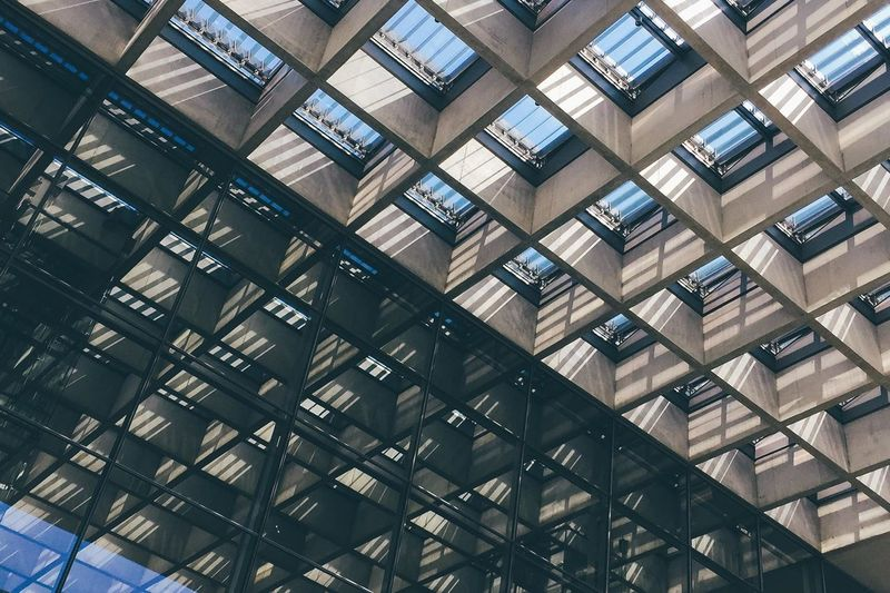 Architecture Berlin Bundestag Contrast Daylight Full Frame Geometry German Germany Light And Shadow Outdoors Skylight Waffle