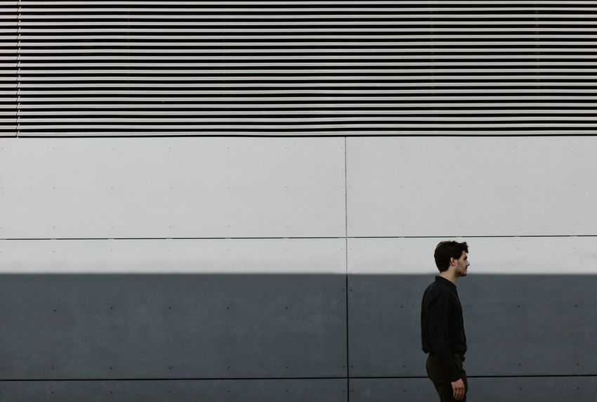 follow me on instagram : ulisi_ Lines Day People One Man Only City White Light Shadow Industry Modern Boy Mood Photo VSCO Color Photography Vscocam Minimalist Minimal Minimalism Men Architecture Post The Architect - 2017 EyeEm Awards