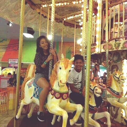 """Carousel ride with my brother"" Carousel Ride Enjoying Life Follow Me:) So Happy"