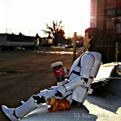 Good morning with a good coffee and a good friend. Something even a trooper can't miss. Tcb_heyeveryone