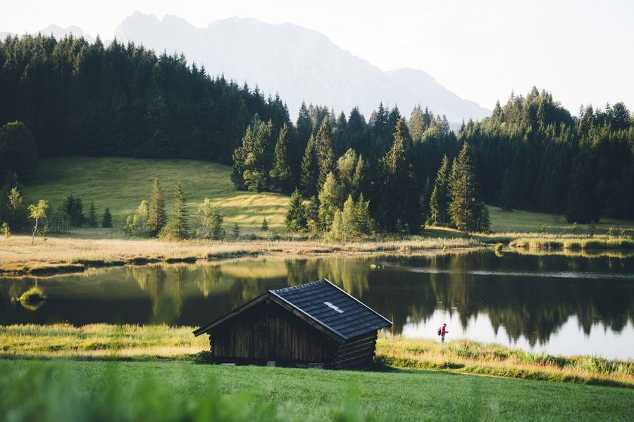 Mornings at Lake Geroldsee Germany Bavaria Plant Tree Water Lake Beauty In Nature Tranquility Scenics - Nature Growth Tranquil Scene Nature Green Color Non-urban Scene Reflection Sky Mountain Day Architecture Idyllic No People Outdoors