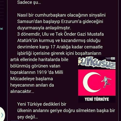 YENİ TÜRKİYE şu ana kadar yazdığım en Uzun Yazı Instagram çerçevesine sığdı ... :)) Yenitürkiye ATATÜRK ata samsun blogger blog cakmaktasiblog writing writer instaturkey akındursun yazılar