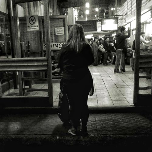 alone #alone Black & White Blonde Night Photography Travel Traveling Woman Black Clothes Blackandwhite Blackandwhite Photography Busterminal Full Length Illuminated Lifestyles Mood Night Nigth  One Person Outdoors People Real People Standing Travel Destinations Women