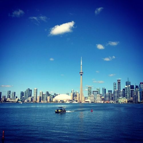 Igerstoronto Cntower Torontowaterfront Last weekend ferry skydome rogerscenter clearsky greatday