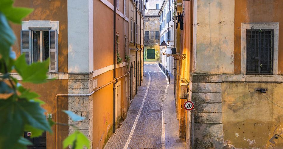 Footpath Amidst Buildings
