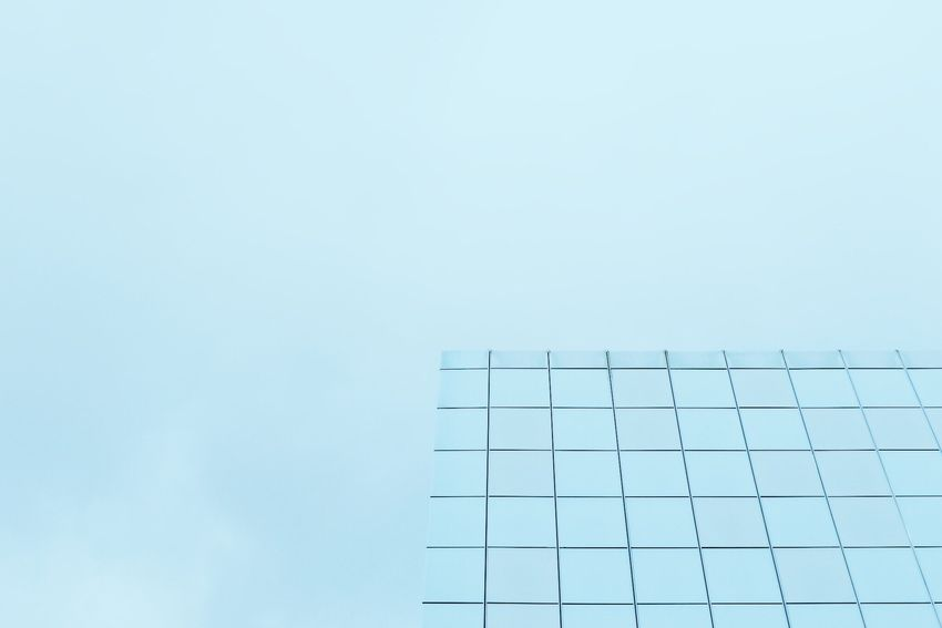Grid Architecture Building Design Blue Creativity Art Showcase: November Streetphotography Beauty In Ordinary Things Geometric Shapes Lines Square Surreal Scene Color Negative Space Minimalism Minimalobsession Simplicity Windows