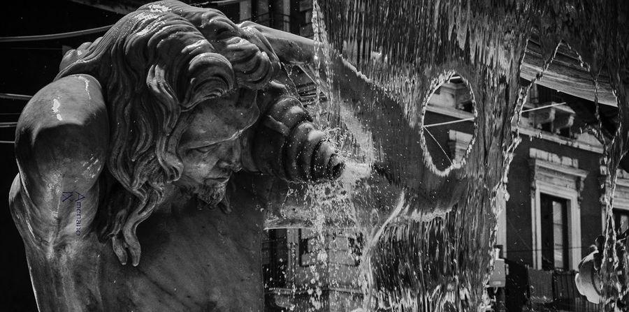 Sicilia Pietralavica Water Black And White Photography Catania Italia Close-up Amenano