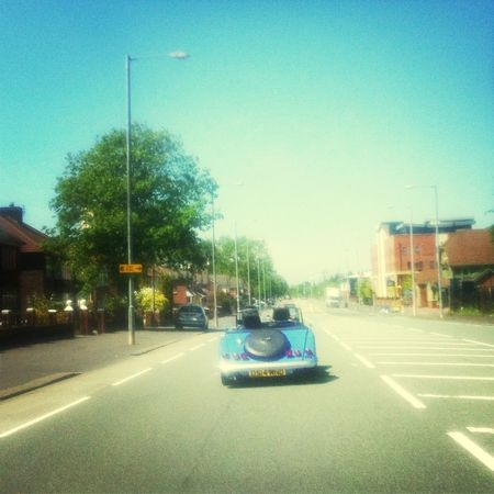 On The Road Retro Hot Summer Days In A City
