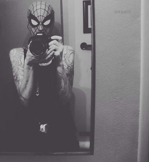 Selfie Girls With Tattoos Ishfauxto Spiderman