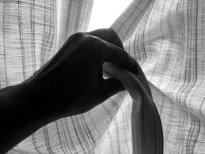 Close-up Curtain Day Drapes  Human Body Part Human Hand Indoors  Men One Person People Real People Window BYOPaper! Rethink Things
