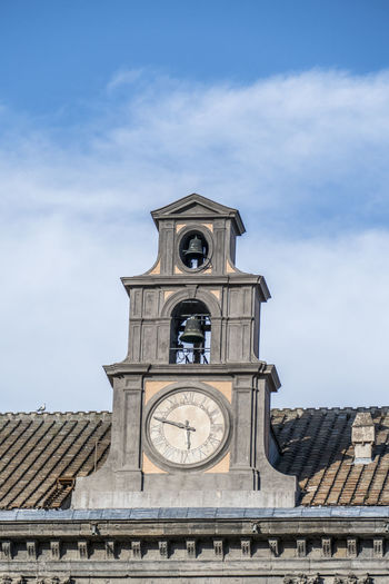 Tower clock of the royal palace in naples