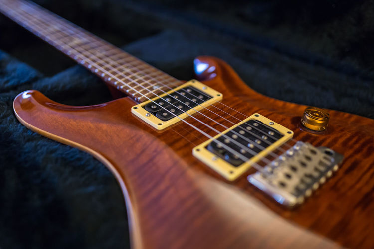 Paul Reed Smith Custom 24 closeup Amber PRS Paul Reed Smith Paul Reed Smith Guitar Arts Culture And Entertainment Close-up Electric Guitar Fretboard Guitar Music Musical Instrument No People