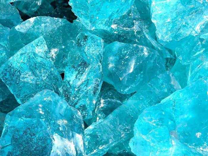 Full frame shot of crystal stones