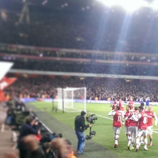 Shine a Light. A kiss for the North Bank after Özil scores against Everton , December 8th 2013. Mesut Afc Arsenal Gunners UTA AshburtonGrove Emirates