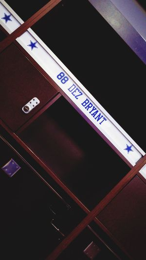Thank You DEZ ✭ Player Dallas, Texas  American Team American Football - Sport COWBOYS NATION Dallas Cowboys Nation Dallas Cowboys Fan X Pro Player Locker Room NFL Football NFL Dallascowboys ✭ DezBryant Dez Communication Western Script Text Indoors  No People Low Angle View Sign