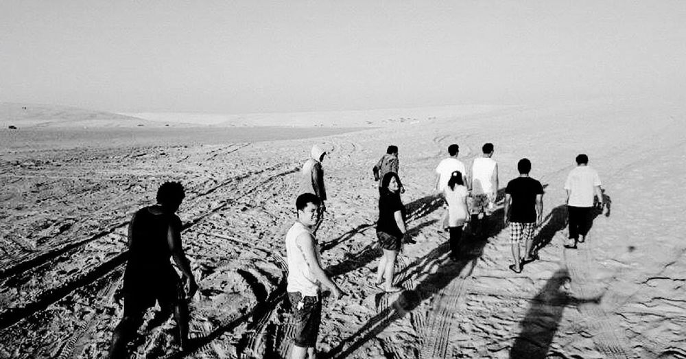 Lost in the middle of nowhere. Sunshine Sea Enjoying The Sun Relaxing Desert WhenInDoha Blackandwhite