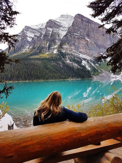 Water Mountain Tree Lake Sky