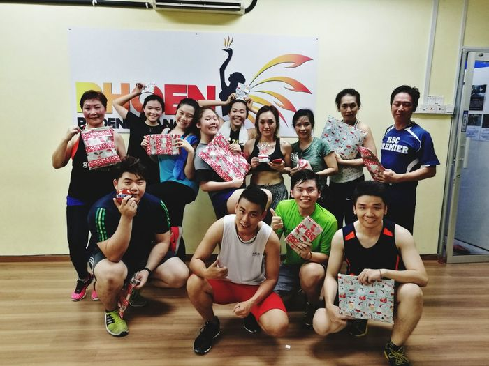 Stay With The Fight Welcome To The Front Line Young Women Young Men Fitness Health Happiness Body Combat PHOENIX DANCE STUDIO Sabrina Soong Indoors  Friendship