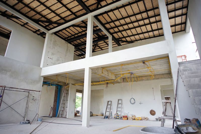 Perspective interior structure of house under construction Design Foundation Reinforcement Concrete Cement Built Structure Architecture Building Building Exterior No People Day Abandoned Wall - Building Feature Industry Outdoors Construction Site Metal Architectural Column Window Ceiling Incomplete Development