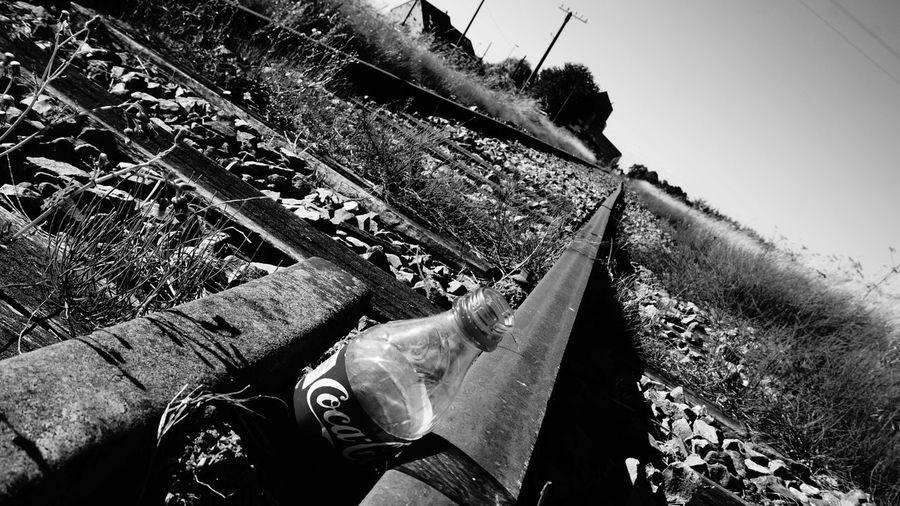 Black & White Blackandwhite Bnw Chartres Cocacola Countryside France Railroad