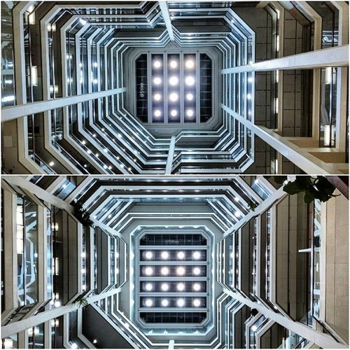 I've been at this building countless of times in the last, but have never looked up....until yesterday. Wow! Stunning. Reminds me of some sort of Startrek or space movie vessel. Hypnotic, love it. Design Architecture Engineering Toronto