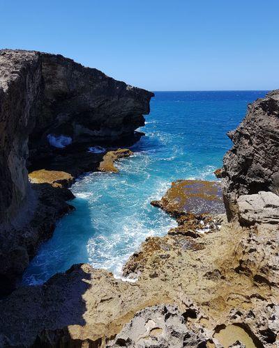 Water Wave Sea Beach Blue Sand Rock - Object Sky