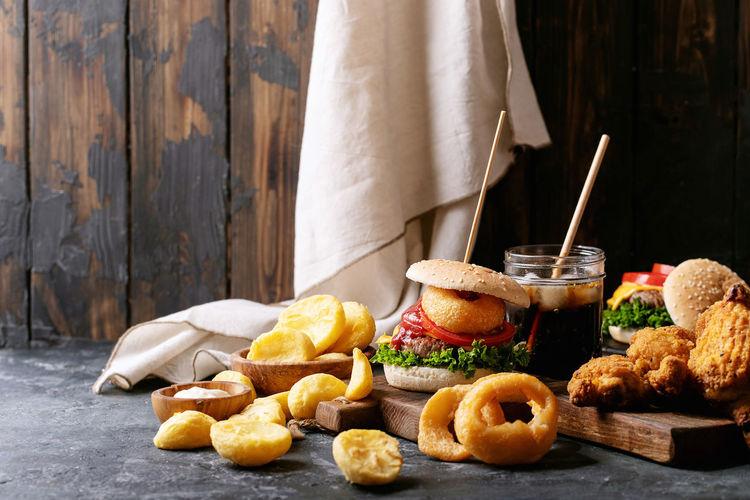 Food on table