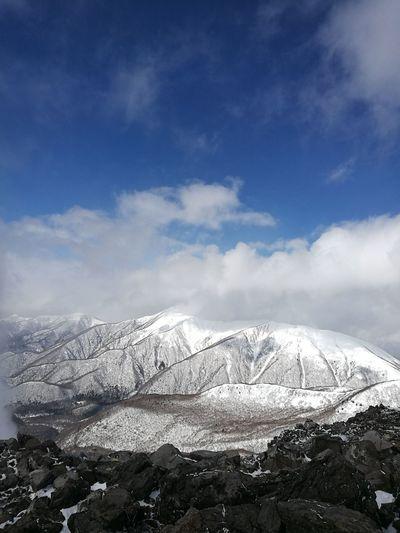 Asahidake Asahidake Mountain Range Monochrome Cloud - Sky Blue Sky Snow City Outdoors Mountain No People Urban Skyline Nature Day 茶臼岳 朝日岳 那須 NASU Chausudake