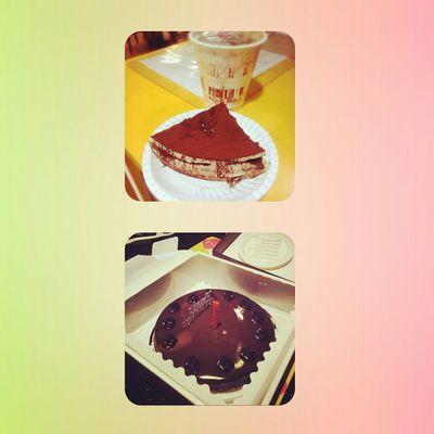 雙魚朋友、同事多多,最近真有口福ya:3 藍莓巧克力口味的瑪爾蛋糕好好食,喜歡♡◇♡ HBD 生日 Happy :) Blueberry Chocolate♡ Tiramisu Cake Pisces