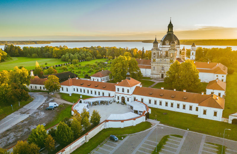Pazaislis Monastery Drone  Aerial View Aerial Mavic 2 Mavic 2 Pro Europe Lietuva Autumn DJI X Eyeem Pazaislis Monastery Pazaislis Monestery Pažaislis Architecture Building Exterior Built Structure Building Tree Plant High Angle View Nature Travel Destinations Sky City Place Of Worship Green Color Residential District The Past History No People Day Travel Outdoors Spire