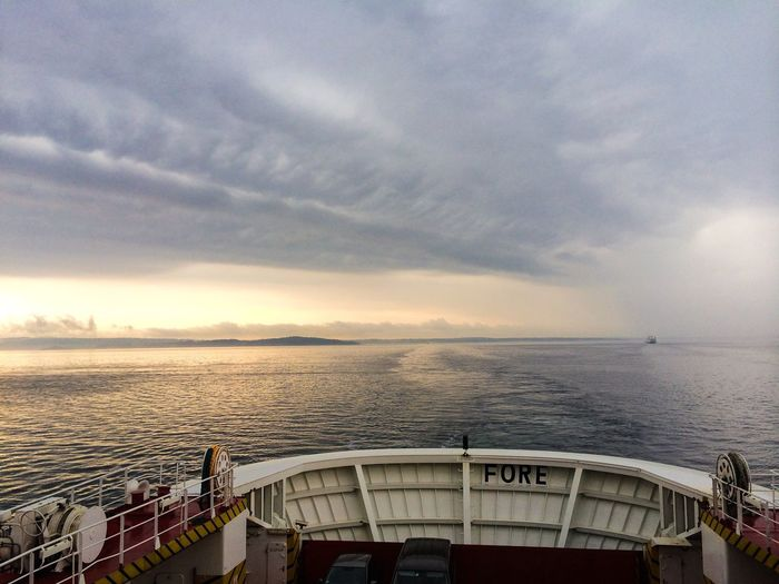 An amazing trip with the ferry today Thunderstorm Landscape_Collection Cloud And Sky Visitnorway