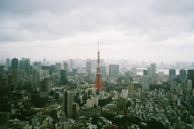 Aerial view of the tokyo city