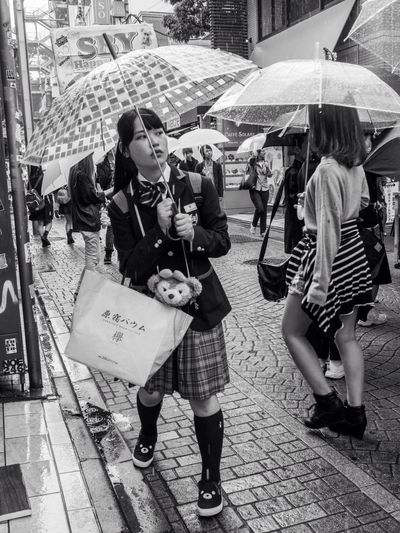 EyeEm Best Shots - The Streets Eye Em Best Shots -Black +White Tokyo Street Photography How's The Weather Today? EyeEm Best Shots EyeEm Best Shots - Black + White Capture The Moment Japan Asian Culture Ultimate Japan Steetphotography Street Girl Japanese  City Urban City Life