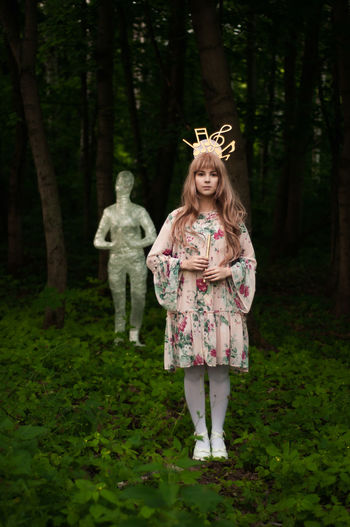 Nofilter No Filter Cute Doll Beauty In Nature Pink Pink Color Light Music Musician Musical Instrument Beauty Tree Blond Hair Child Full Length Childhood Crown Halloween Front View Girls Grass Dressing Up Fairy Costume