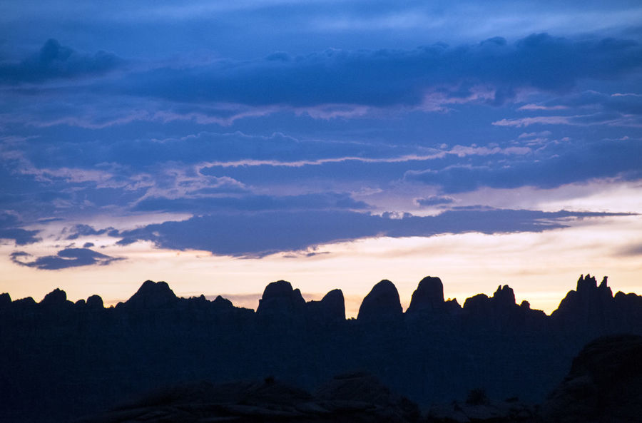 Desert Desert Tower Moab  Moab, Utah Utah Beauty In Nature Cloud - Sky Landscape Mountain Nature No People Outdoors Rock Scenics - Nature Silhouette Sky Sunset Tranquil Scene Tranquility